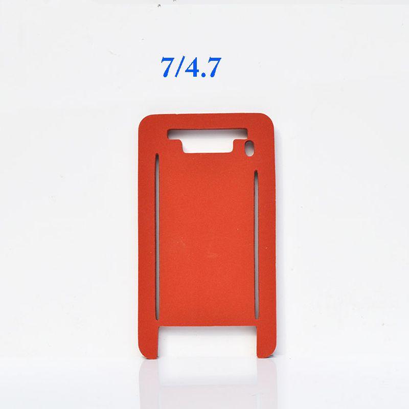 Tappetino plastico in silicone + + iPhone 5 5s 5c 6 6s 7 più vetro frontale con telaio plastificazione
