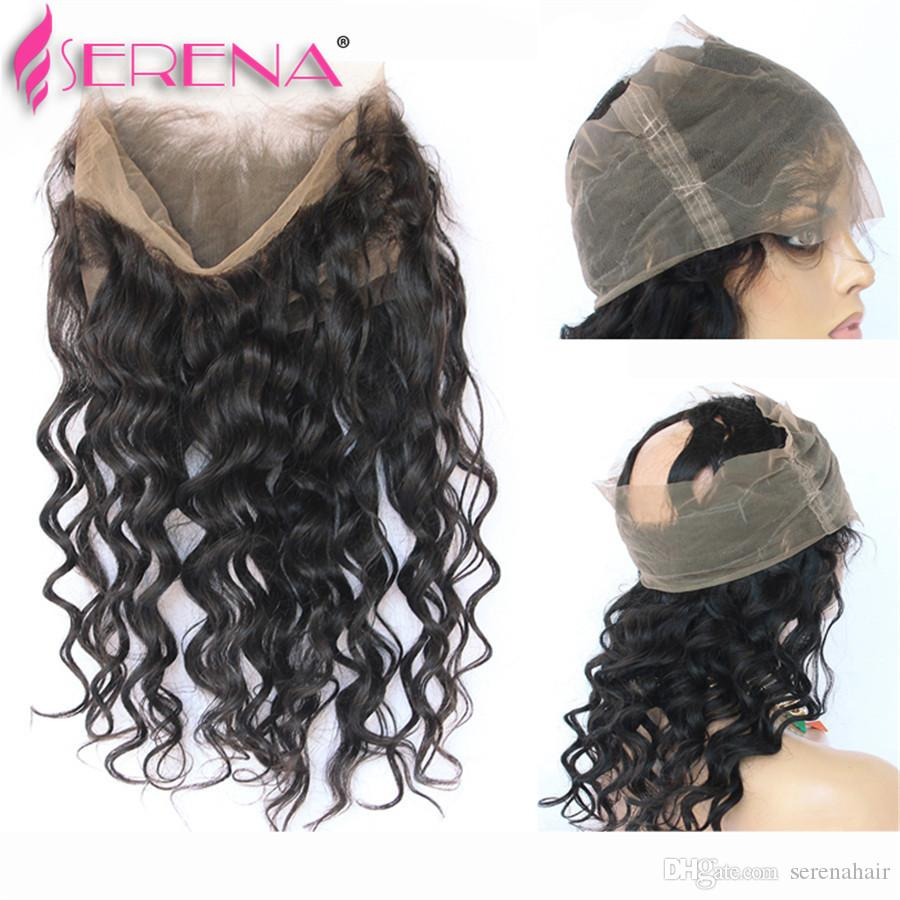 Kinky Curly Virgin Hair With Frontal Brazilian Virgin Hair Deep Curly Water Wave 360 Lace Frontal With Bundle Kinky Curly Hair Lace Closure
