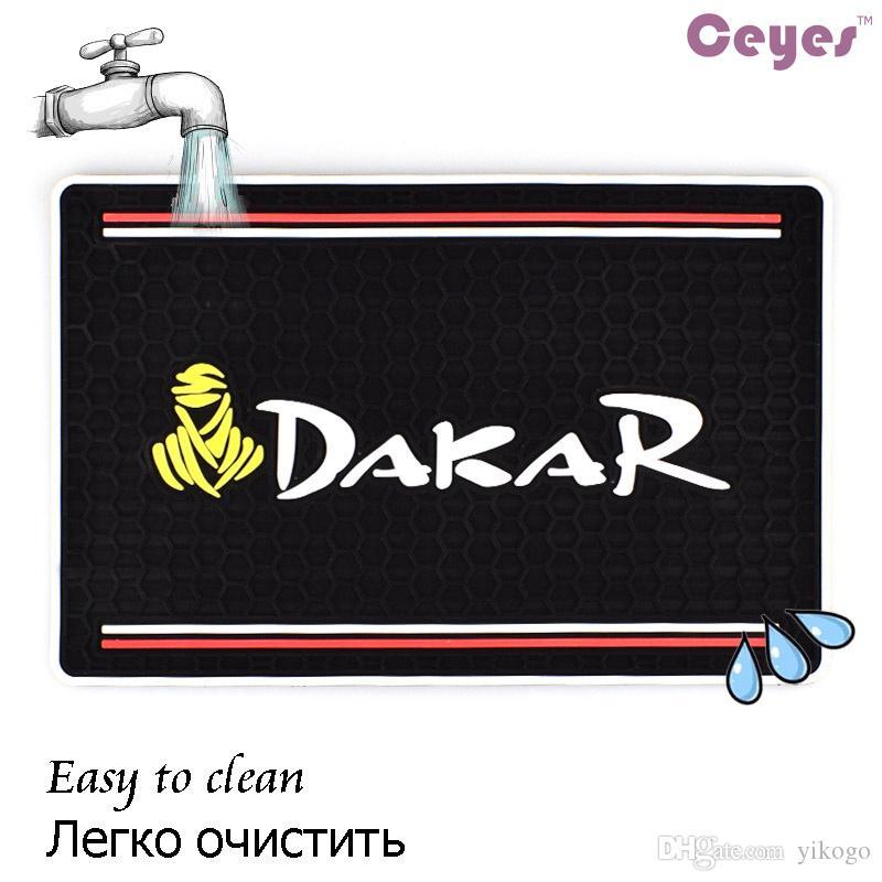 Auto Car Não-Slip Mat Caso Adsorção Super Para o logotipo do telefone celular DAKAR apto para bmw nissan Carro Anti-skid Pad Anti-slip Mat Car Styling