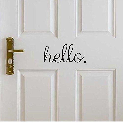 Creative English Hello Home Front Door Wall Stickers Can Remove Decorative  Stickers Size:27.9x12.7cm Wall Decals Wall Stickers Wall Stickers For  Living Room ...
