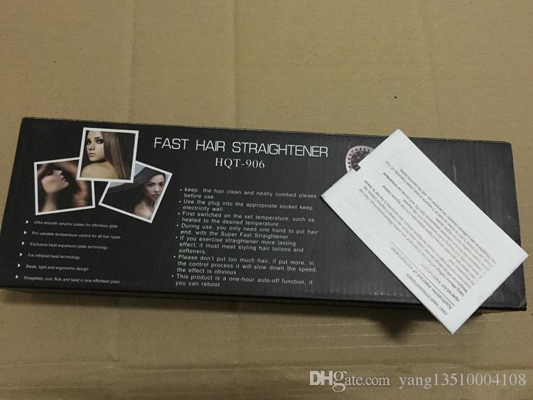 DHL FAST فرد الشعر فرشاة مستقيم التصميم أداة NASV الجميلة نجمة مشط الحديد المسطح مستقيم الالكترونية HQT-906 دي إتش إل الحرة