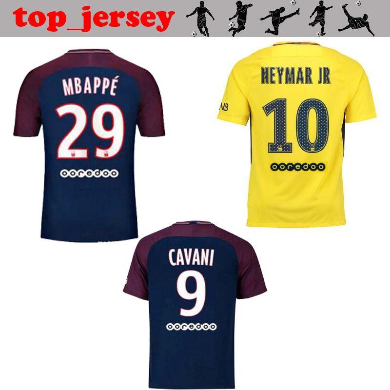 ... 2017 2018 Neymar Jr Mbappe Soccer Jersey Paris Home Away Jersey Di  Maria Ben Arfa Cavani ... f886b763d