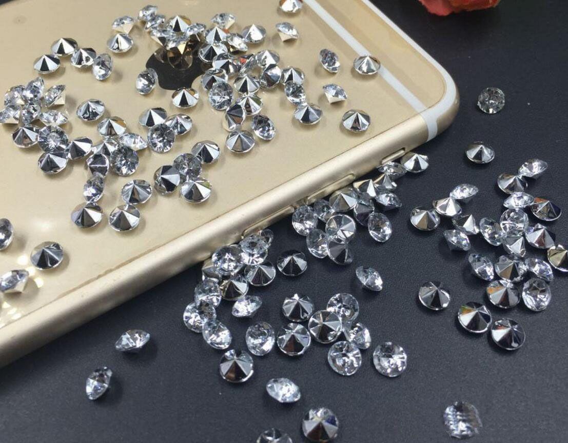 10000 unids 4mm Mixta Acrílico Diamante Confeti Wedding Party Scatters Tabla Decoración de Cristal