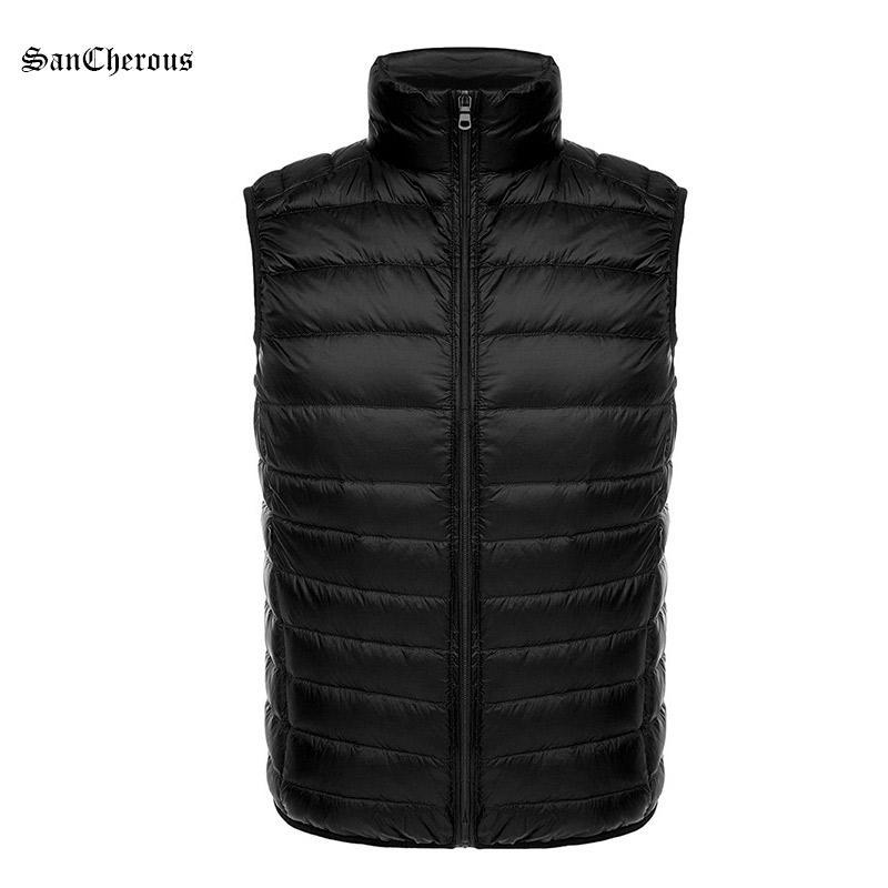 2018 Wholesale 2017 Hot Sale Casual Men Winter Vest Leisure Men Winter Down  Jacket Light Stand Collar Coat Size S 3xl From Baldwing, $50.2 | Dhgate.Com