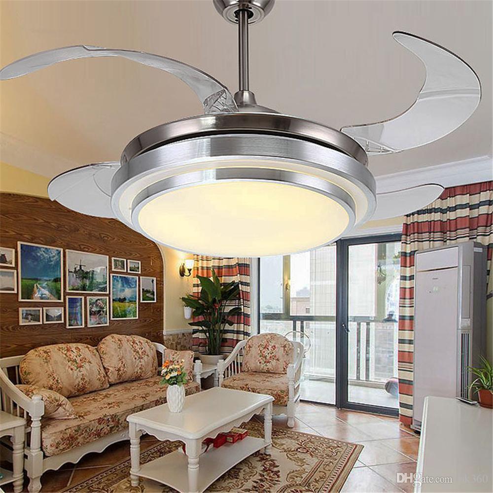 Großhandel Ultra Leiser Deckenventilator 100 240v Unsichtbare  Deckenventilatoren Moderne Ventilatorlampe Für Wohnzimmer, Europäische  Deckenleuchten ...