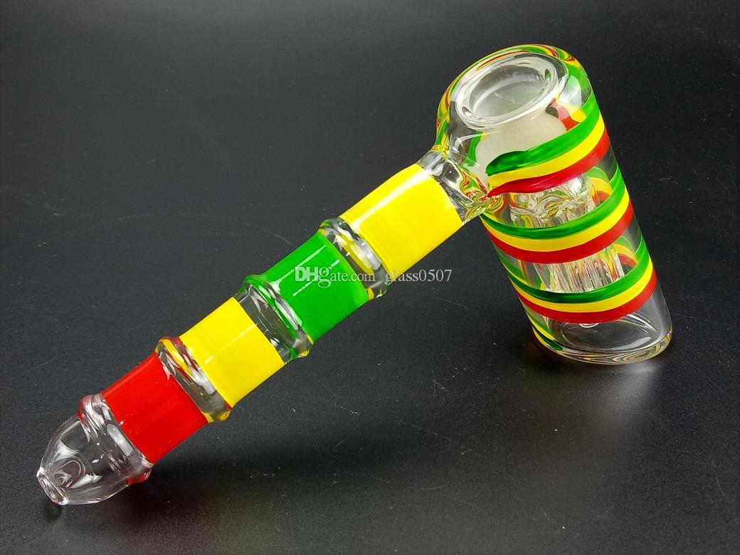 Glass Bongs Water Pipes hammer 6 Arm perc percolator bubbler recycle Rigs Glass Bongs water pipes