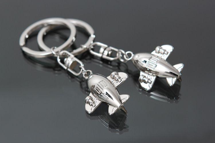 Wholesale - New Classic 3D Simulation Model aircraft Keychain Key Chain Ring Keyring creative key chain CA168