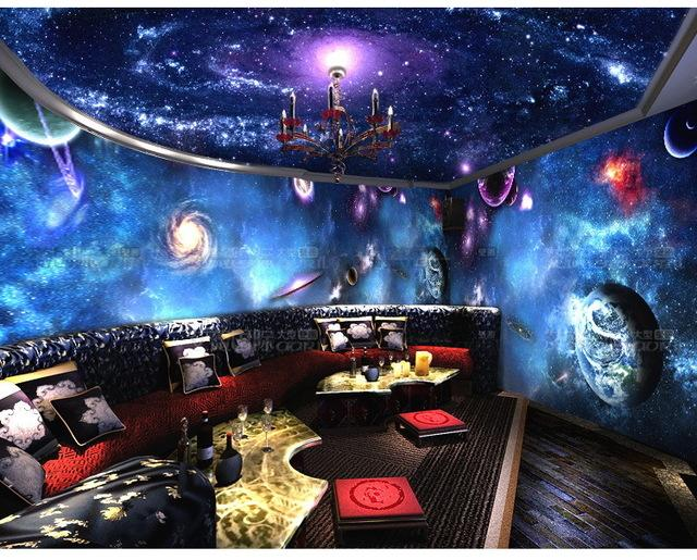Wholesale Star Ceiling 3d Universe Wallpaper Bedroom Backdrop Personality Ktv Bar Large Mural Hd Wallpapers Downloads Free