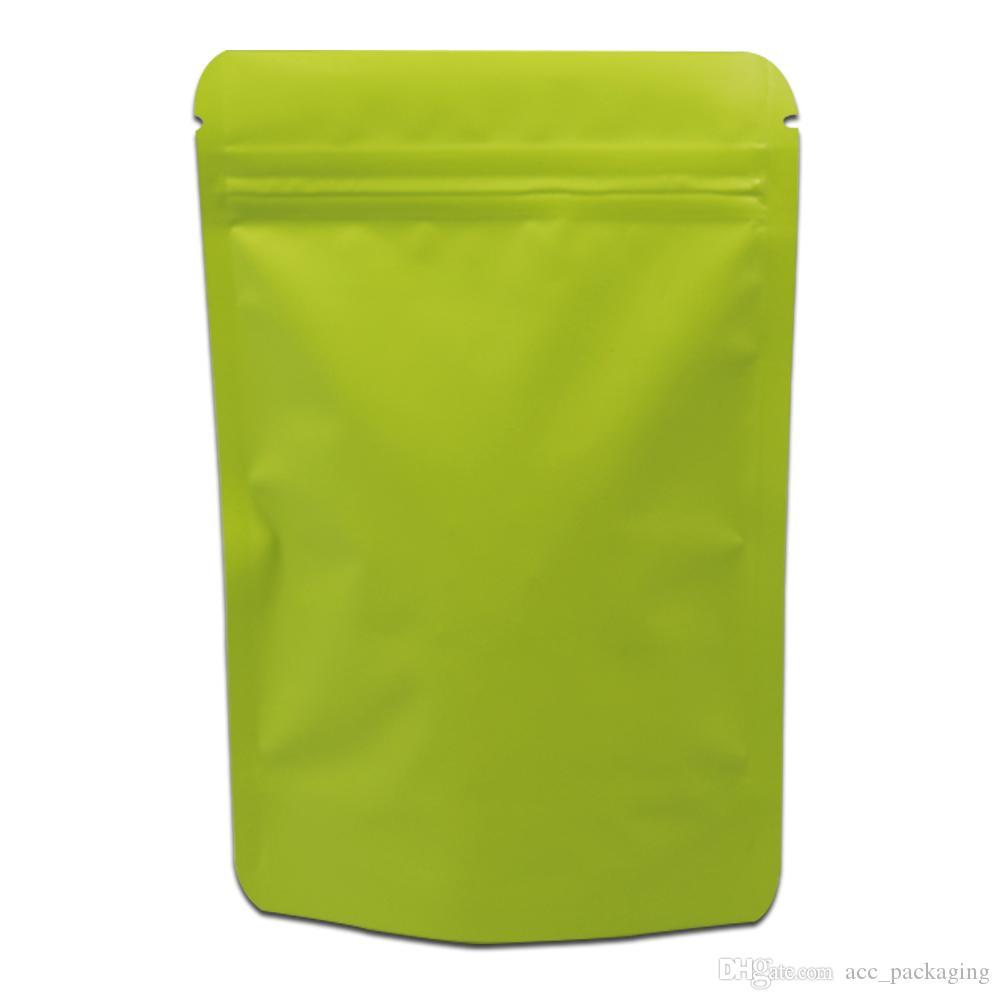 Stand Up Matte Mylar Bag calor selável Zipper fechamento Bolsa Doypack Pure Folha de alumínio sacos de café metálica pacote de saco