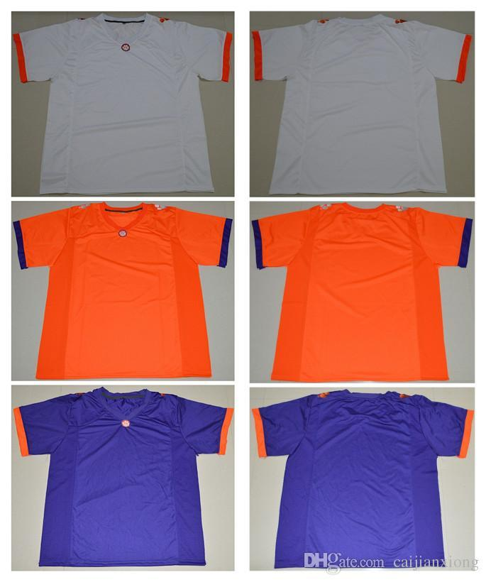 d270549de ... 2019 customize any name number clemson tigers college football limited  jerseys white orange purple m