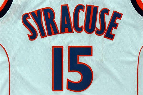 Mens Syracuse Orange Camerlo Anthony College Basketball Jerseys Camerlo Anthony #15 Shirts Cheap University Stitched Basketball Jersey