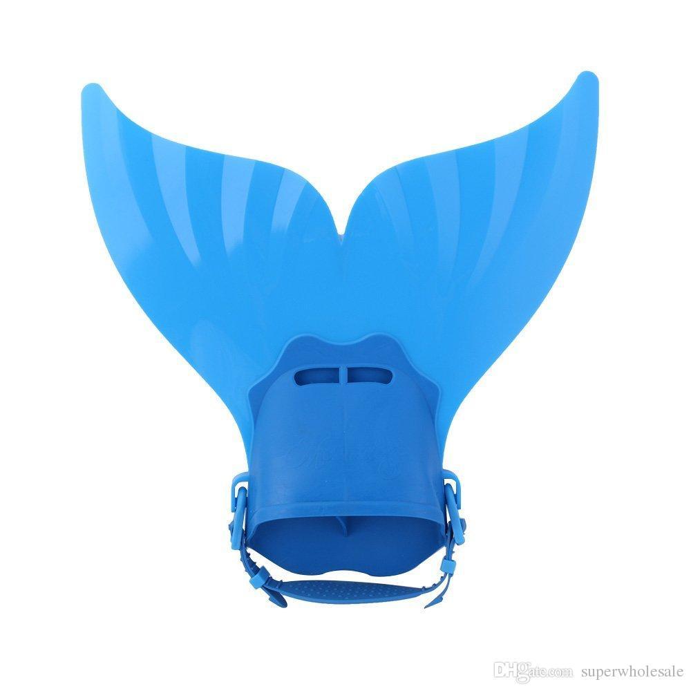 Adjustable Mermaid Swim Fin Diving Monofin Swimming Foot Flipper Mono Fin Swim Training For Kid Children Christmas Gifts F-106