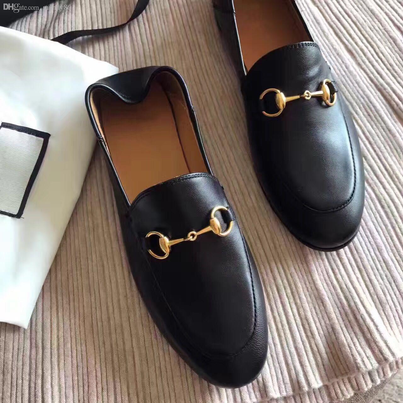 02c4358571 Compre Moda Mulher Loafer Sapatos De Couro Mulher Sapatos Casuais Sapatos  Femininos Zapatos Mujer Chaussure Femme Sapato Feminino Sandalias De  Mandy86