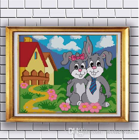 Cross-stitch Teacup Dog Cartoon Animal Paintings Counted Printed On Canvas Dmc Chinese Cross Stitch Kits 11ct 14ct Needlework Sets Embroidery