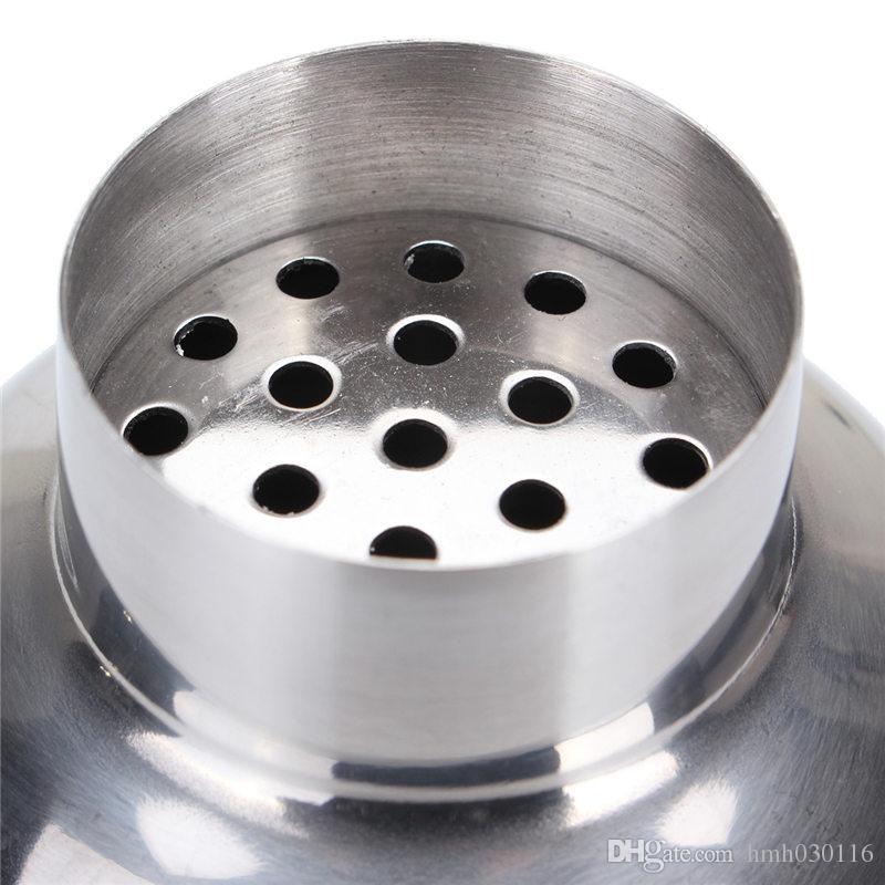 5 teile / satz 250 ml - 750 ml Edelstahl Cocktail Shaker Mixer Trinken Weißdorn Sieb Eiszangen Rührlöffel Messen Tasse Bar Tool Kit