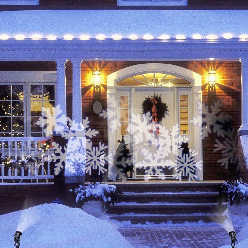 야외 레이저 조명 방수 눈송이 Led 프로젝터 Lights RGB 잔디 조명 크리스마스 홀리데이 정원 장식