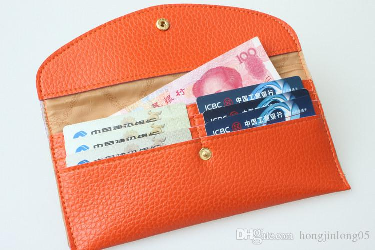 2017 мода конфеты цвет Леди кошельки искусственная кожа кредитной карты тотализатор конверт клатч для женщин кошелек портмоне сумка DHL
