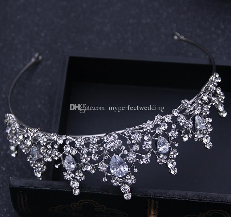 NEW Shinny Rhinestone Crystal Crown Wedding Party Prom Homecoming Crowns Band Princess Bridal Tiaras Hair Accessories Fashion