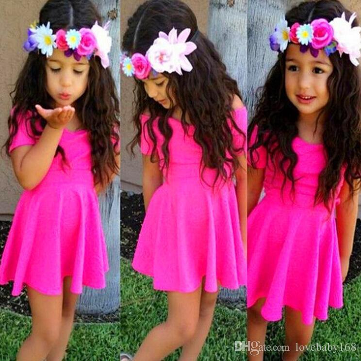Großhandel Europäische Amerika Neue Stil Baby Mädchen Kleid Kinder ...