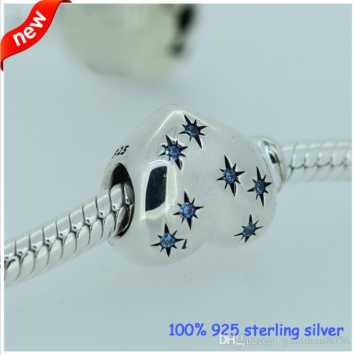 Fits Pandora Bracelets Cinderella Heart Silver Beads New Original 100% 925 Sterling Silver Charm DIY Jewelry Wholesale