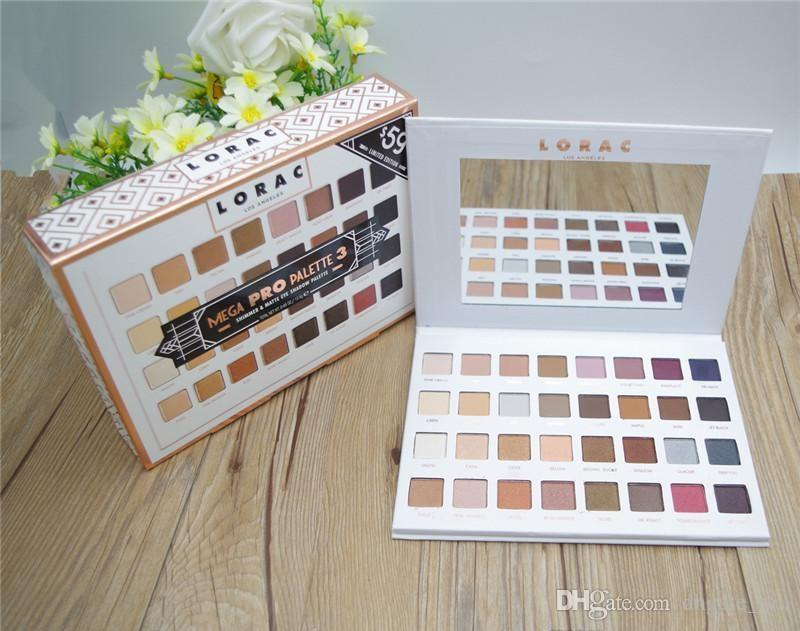 Lorac Mega Pro 3 Palette Eyeshadow Palette Shimmer Matte Brands Eye Shadow Palette Makeup