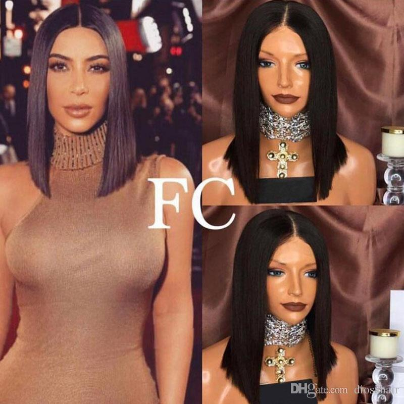 Diosa Short Lace Wigs With Baby Hair Virgin Brazilian Lace Front Human Hair Bob Wigs Glueless Full Lace Bob Wigs Short Cut Wig