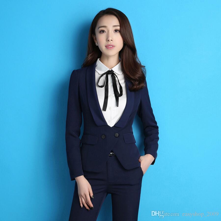 Ms High-End-Temperament der Herbst Kleidung Frau Anzug kultivieren irgendjemandes Moral Uniform Anzug