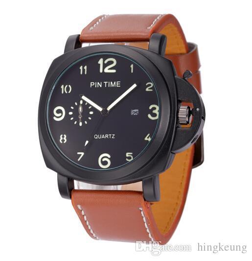 2017 Luxury Brand EPINTIME Fashion Watches Men Leather Casual watch Waterproof Military Relogio Masculino Sport Men Wristwatch