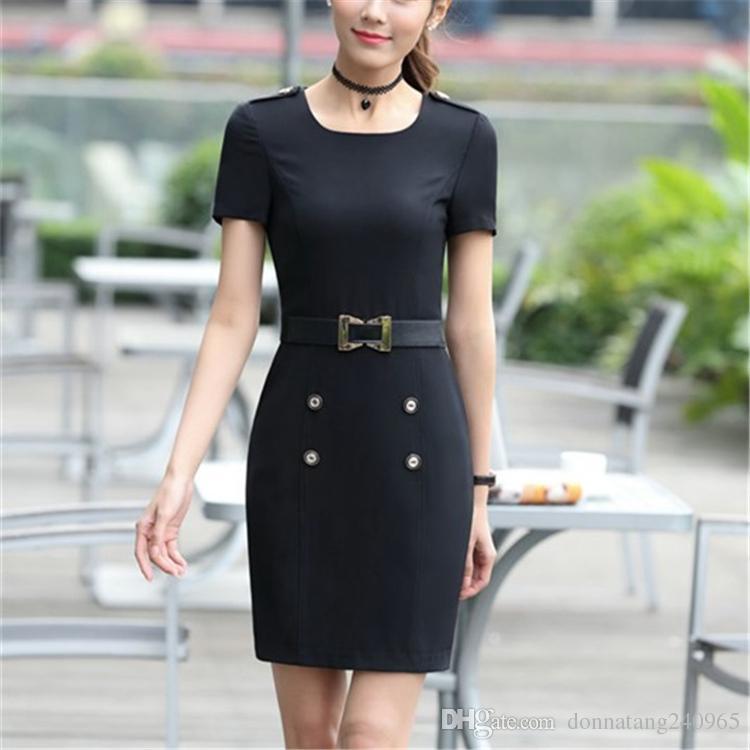 2017 Spring Ol One Piece Dress Short Sleeve Fashion Slim Hip Medium