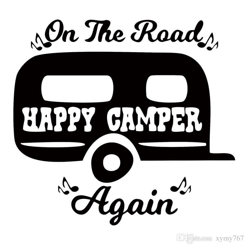 Nuovo stile per la strada di nuovo Camping Car Window Sticker Camper Decal Cute divertente Car Styling Vinyl Decal