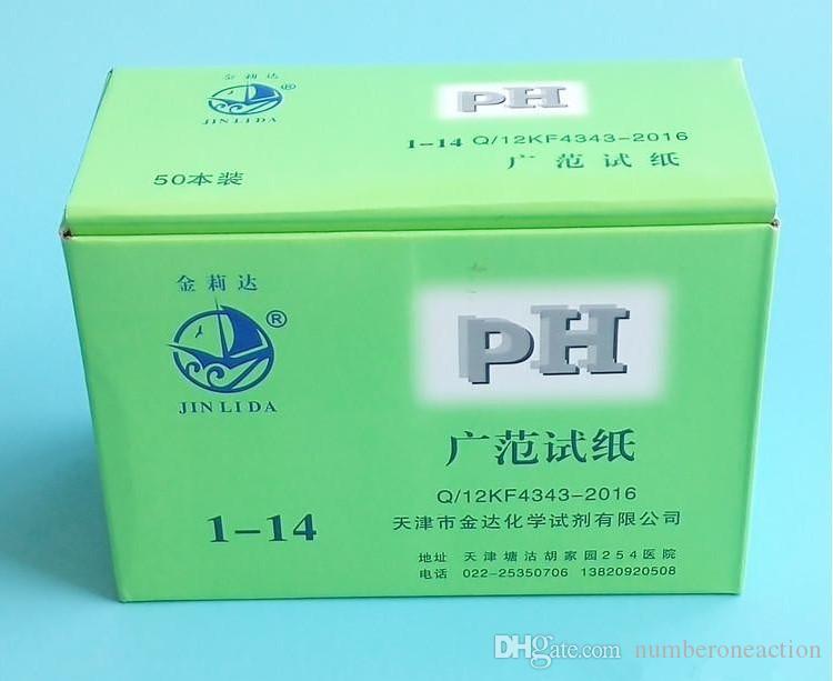 Strisce reattive pH dell'acqua Corrispondenza universale carta al tornasole Acquario 1-14 Indicatore alcalino acida Analizzatori di misuratori di carta PH