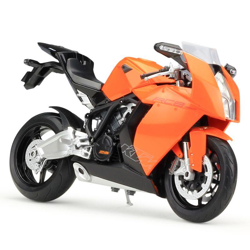 2018 Welly 1:10 Motorcycle Models Ktm 1190 Rc8 Orange Simulation ...