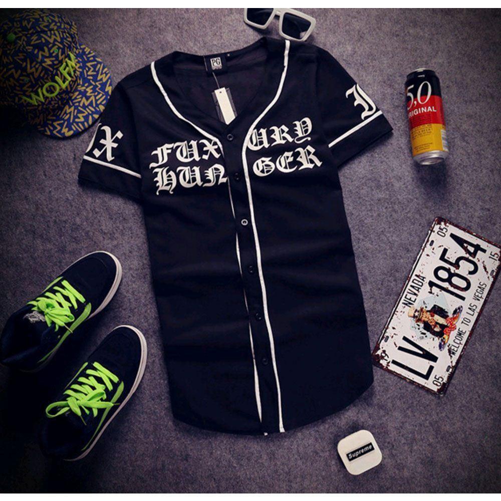 T shirt design hip hop - Summer Style Mens T Shirts Fashion 2017 Streetwear Hip Hop Baseball Jersey Printing Shirt Men Clothes Tyga Last Kings Clothing Cool Shirt Design Tshirts