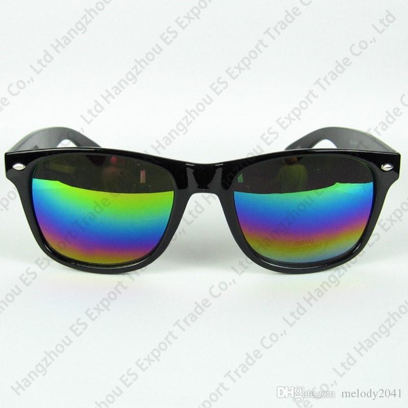 Clear Stock Travel Sunglasses Fashion Sun Glasses Plastic Frame Folding Black And Blue Floral Printing Mix Colors