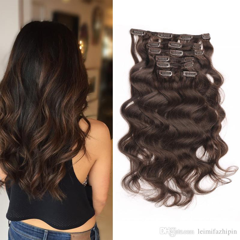 Full Head Curly Clip Inon Human Hair Extensions Double Weft Clip In