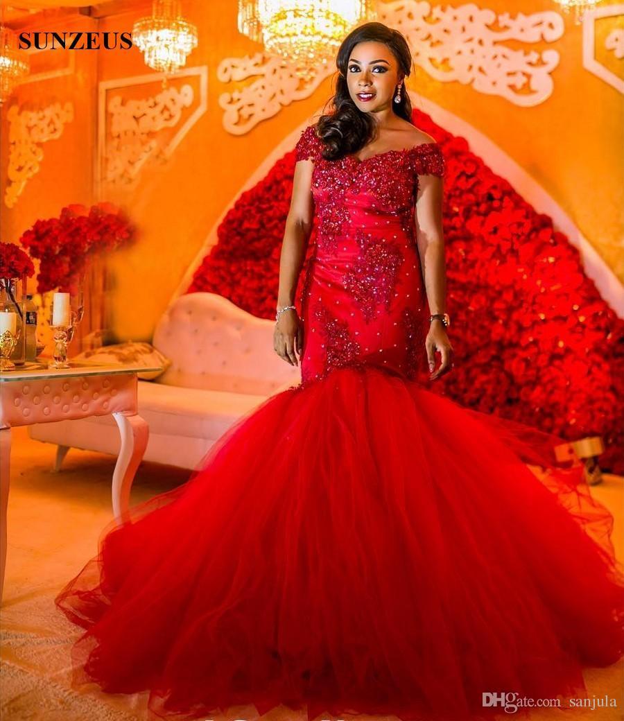Red wedding mermaid dresses best photo