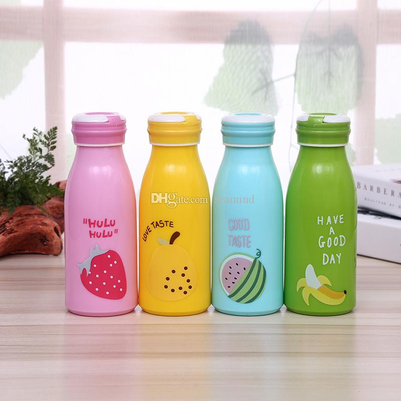 New Cute Mini Cartoon Fruits Water Glass Cup Light And