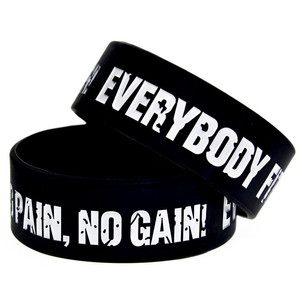 Tout le monde Fit No Pain No Gain silicone parfait pour Bandeaux Utilisation Dans tous les avantages cadeaux
