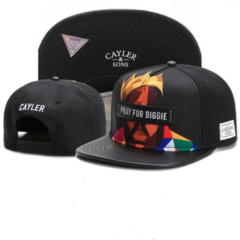 f664c4fce9d 2017 PRAY FOR BIGGIE Cayler Sons Black Snapbacks Fitted Cap Men Women  Basketball Hat Team Football Hiphop Adjustable Snapback Baseball Cap  Richardson Caps ...