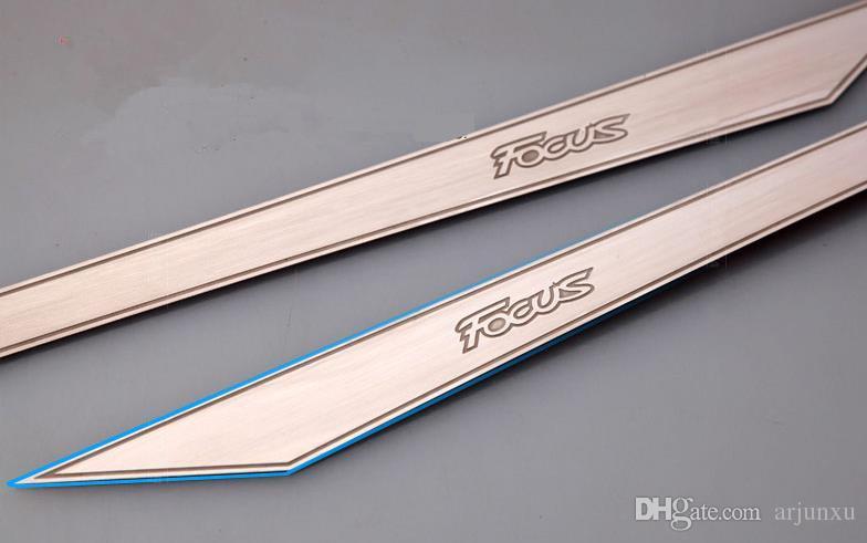 Ford Focus 3 2012 2013 porta interna plancia autoadesivo in acciaio inox trim messa a fuoco 3 parti 2 pz / lotto