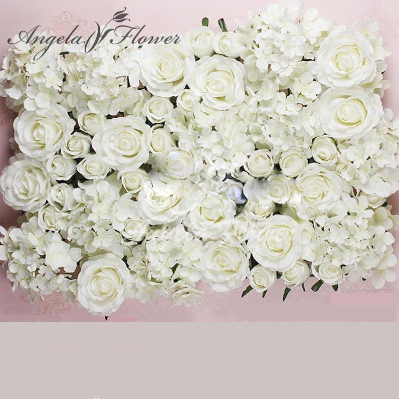 Wholesale- DIY Artificial Rose Flower Heads Silk Decorative Flower ...