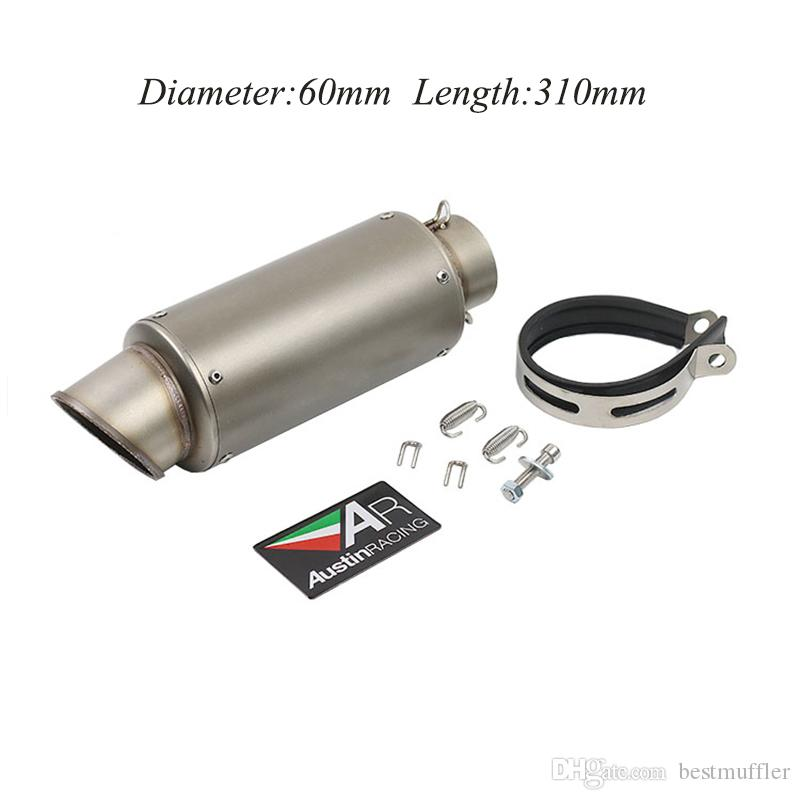 51MM 60MM Universal Exhaust Pipe Tail Pipe Real Carbon Fiber AR Sticker Motorcycle Vent Pipe Exhaust System
