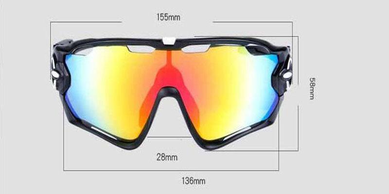 2019 polarisierte Marke Radfahren Sonnenbrillen Racing Sport Radfahren Brille Mountainbike Brille Austauschbare 3 Objektiv Outdoor Radfahren Brillen
