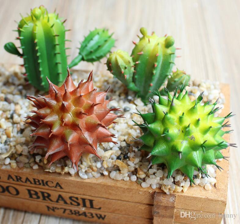 artificial real touch cactus fleshiness plants artificial succulents plants diy ornaments fake flower garden decoration new style from bunny