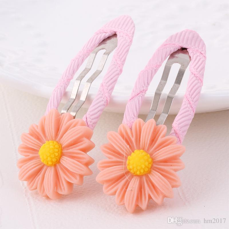 Neues Design Nette Schöne Kleine Daisy Blume Haarnadeln 5,5 * 2,3 cm Mädchen Headwear Kinder Haarspangen Kinder Haarschmuck Haarnadeln