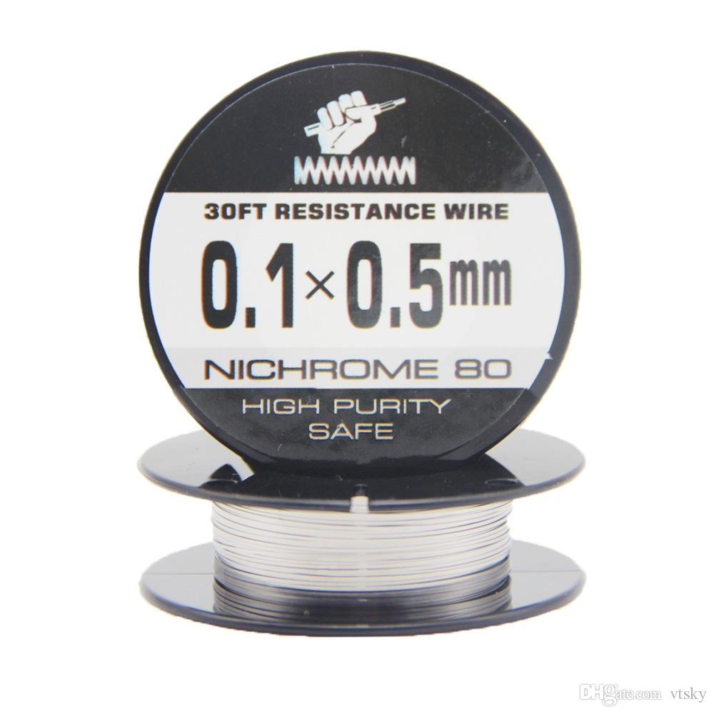 Großhandel Nichrome 80 Banddraht 30 Füße 0,1 * 0,3 0,1 * 0,4 0,1 * 0 ...