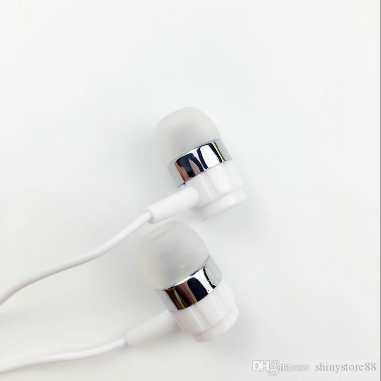 Universal Earphone Headphone Stered Headset In-Ear Earphone 3.5mm with Mic and Remote stereo headset for iphone 7 Samsung S7 Android Phone