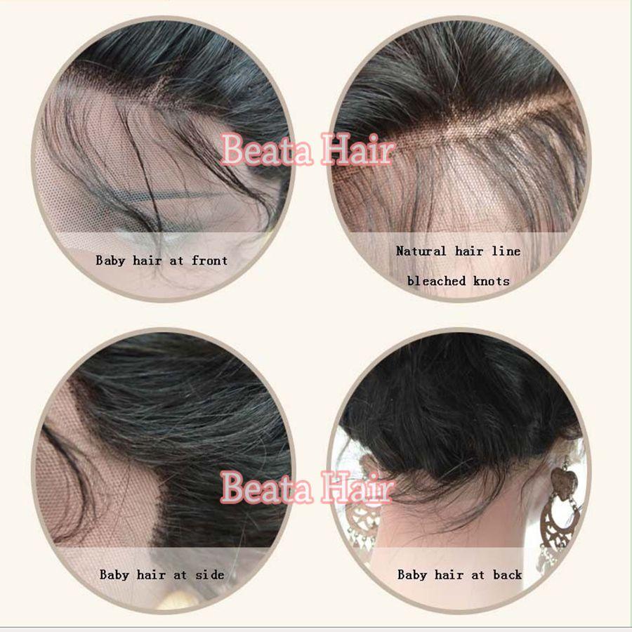 Bathair Human Hair Lace Front Perücke Kurze gerade Bob Perücke mit Pony Brasilianischen Haar volle Spitzeperücke mit Babyhaaren für schwarze Frauen