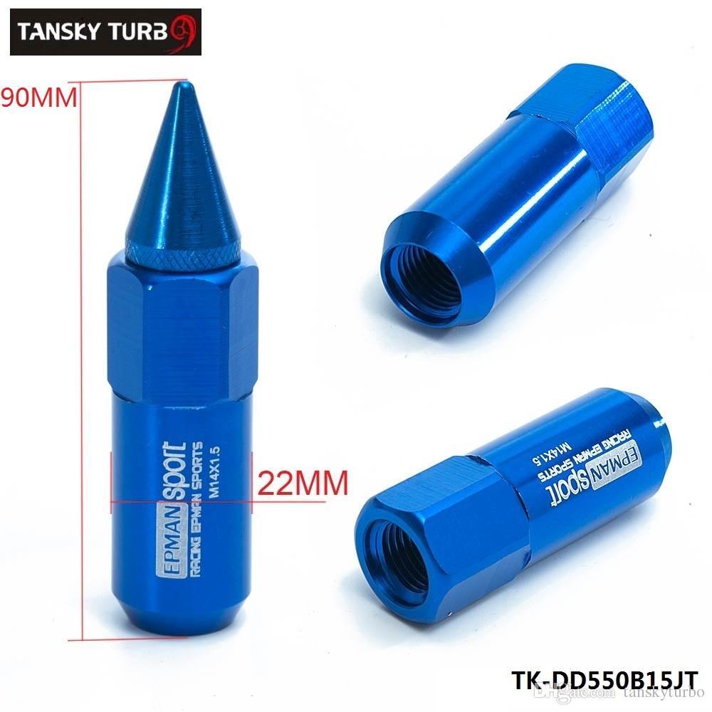 TANSKY -NEW Set M14X1.5 Spiked Extended 60MM Llaves de afinación de aluminio Tuercas Ruedas / Llantas TK-DD550B15JT