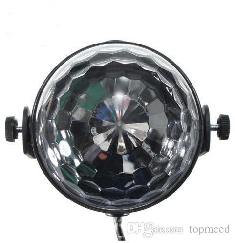 مصغرة rgb led كريستال ماجيك الكرة المرحلة تأثير الإضاءة مصباح حزب ديسكو نادي dj بار ضوء المعرض 100-240 فولت الولايات المكونات